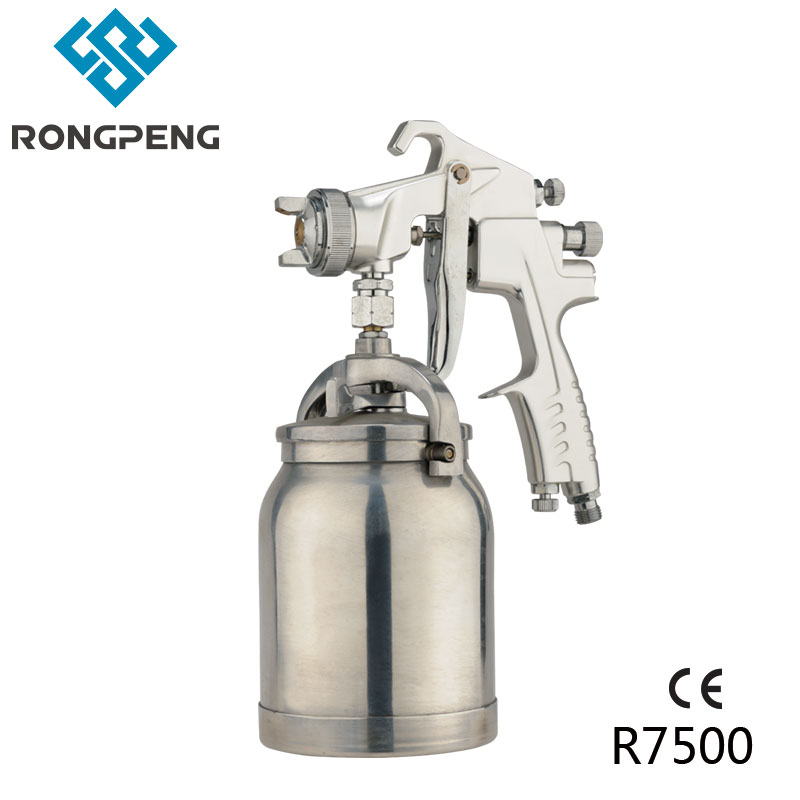 Rongpeng High Pressure Air Spray Gun R7500 Top Grade Auto Base Coat Gun Car Undercoated Sprayer 1.8mm Nozzle Suction Paint Cup metal hose nozzle high pressure water spray gun sprayer garden auto car washing