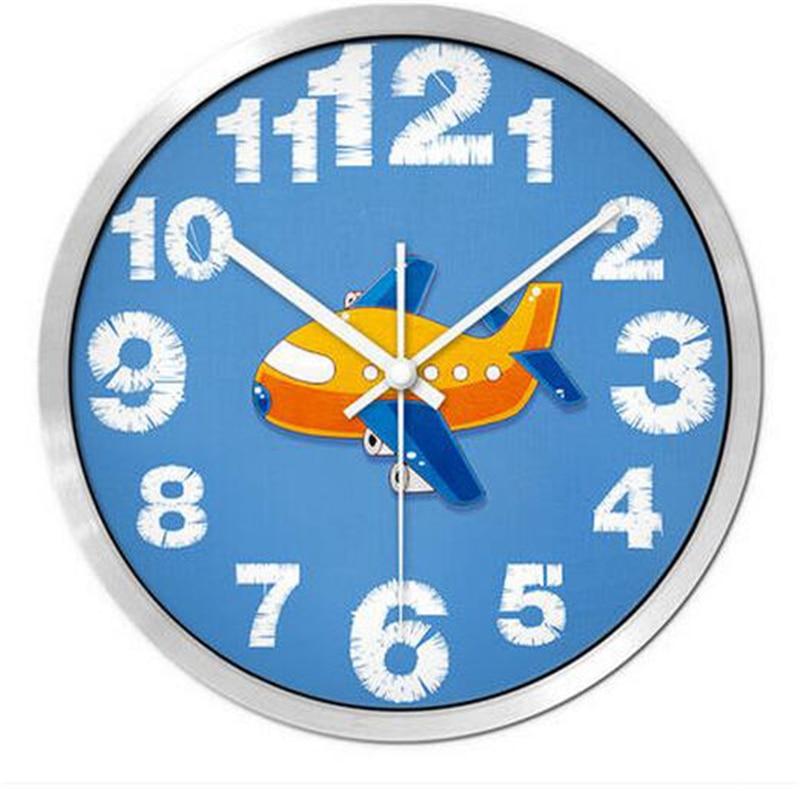 Big Cartoon Watch Wall Clock Modern Design Mural Living Decorative - Wall clock for kids room