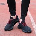 Nuevo 2017 de Los Hombres de Malla de aire con cordones zapatos casual Walking lightsoft Hombres Respirables Cómodos zapatos tenis femenino par neto 350