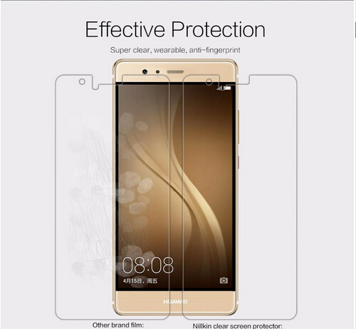 2 pcs/lot screen protector for Huawei Ascend P9 NILLKIN Crystal Super clear protective film with retailed package-in Phone Screen Protectors from Cellphones & Telecommunications on