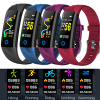2019Smart sport watch bracelet Heart Rate Blood Pressure Oxygen Oximeter Sport Watch Ring Waterproof Watch Smart For iOS Android