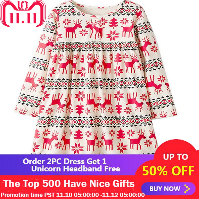 Christmas Dress Baby Girl Clothes Autumn Long Sleeve Girls Dresses 2018 Kids Party Dress Princess Costume Children Vestidos w l monsoon baby girl dress long sleeve vestidos 2017 brand christmas dress with embroidery cotton autumn dresses kids clothes