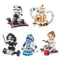 Star Wars Diamond Building Blocks Darth Vader Stormtrooper Rey BB-8 R2-D2 Robot Model Mini DIY Bricks Toys Gift For Children