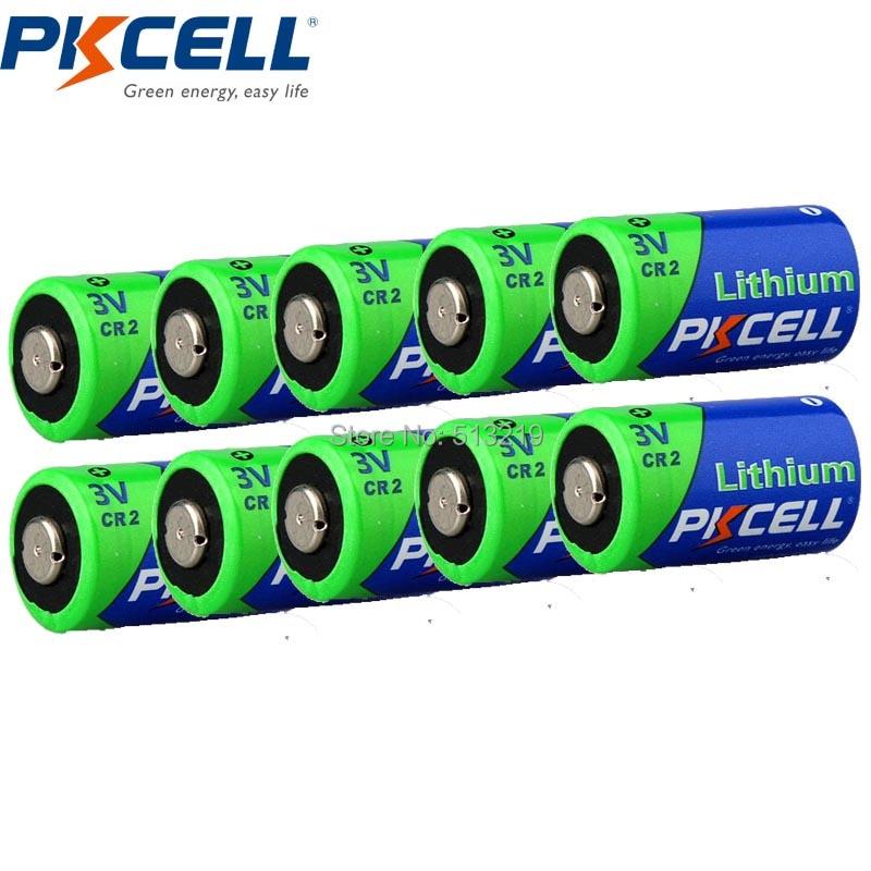 10Pieces*PKCELL CR2 15270 CR15H270 <font><b>3V</b></font> 850mAh Lithium Cylindrical <font><b>Li</b></font> MonO2 <font><b>Battery</b></font>