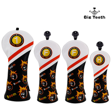 Big Teeth Golf Wood Head Covers Headcover Bomb Driver FW UT Headcovers Бясплатная дастаўка