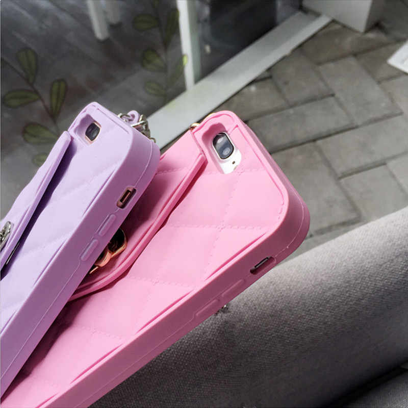 ... New Luxury brand Wallet Card Pouch Portable Handbag soft silicon Phone  Case For Iphone XS MAX ... 0404e83bb733