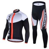 VEOBIKE Herbst herren Langarm Radfahren Jersey Set Pro Team 2020 3D Gel MTB Bike Kleidung Quick Dry Fahrrad kleidung Sport Anzüge-in Fahrrad-Sets aus Sport und Unterhaltung bei