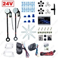 Universal DC24V Truck Bus 2-Doors Electric Power Window Kits 3pcs/Set Switches & Wire Harness #J-3847