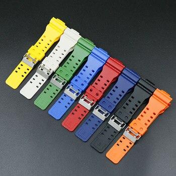 c50ac0ec9839 Accesorios adecuados para Casio G-SHOCK reloj correa de resina GA-300 GA100  GA110 GA120 GA150 GD120 110 100 150  300 GLS deportes waterpr