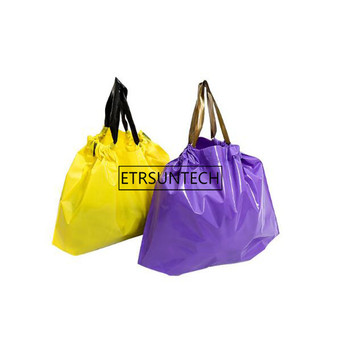 Multifunction Plastic Bag With Handles Festival Gift Bag Toggery Shopping Bags Clothing Drawstring Pouch