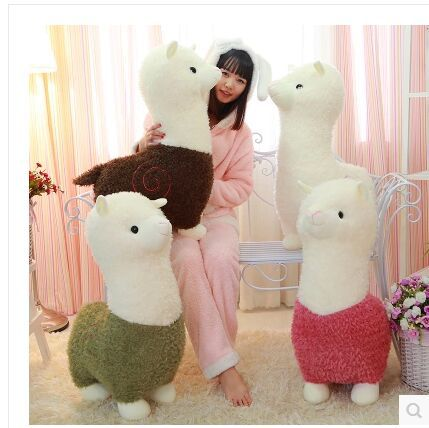 stuffed toy, cute colouful Alpaca plush toy, throw pillow , four colours choices , birthday gift p3442