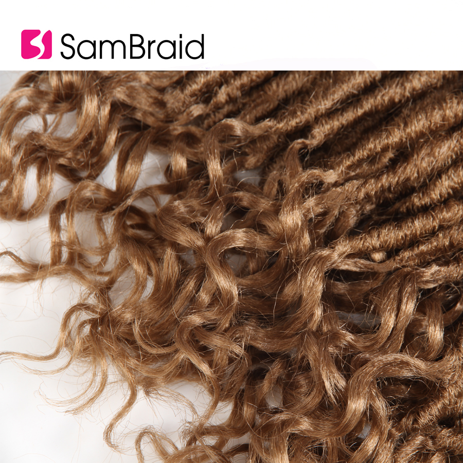 SAMBRAID New Faux Locs Crochet Dreadlocks Hair Extensions Kanekalon Ombre Goddess Crochet synthetic Hair