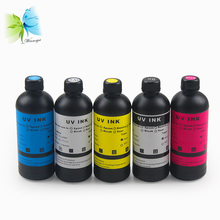 Winnerjet 500ml X 5bottle LED UV ink For Epson 1400 L800 1390 R1800 R2000 UV Flatbed Printer( BK,C,M,Y WHITE)