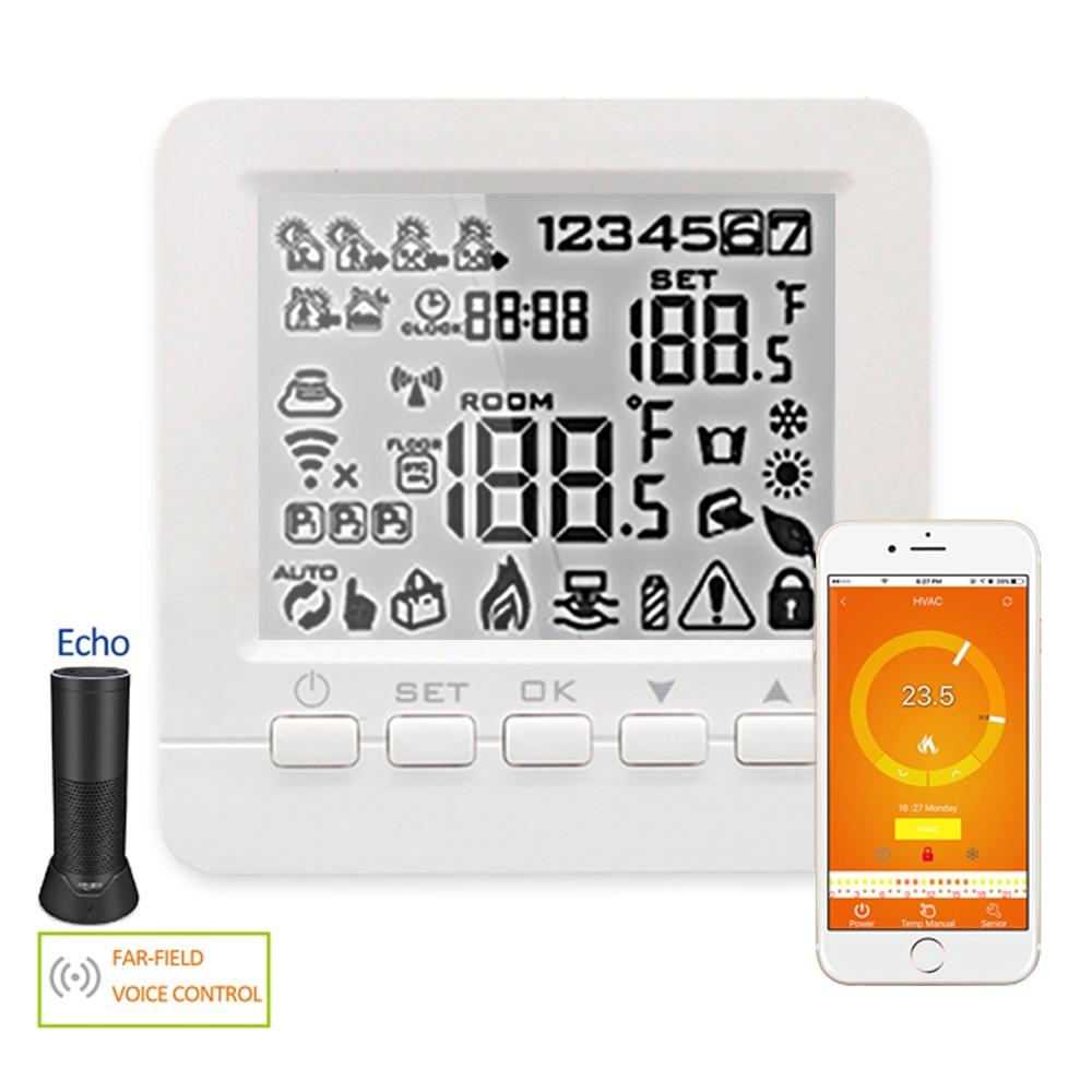 Echo Alexa WiFi Thermostat Smart Programmable Water Gas Boiler Heating Floor Winter Voice Control Room Temperature