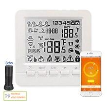 Эхо Alexa Wi Fi термостат Smart программируемый воды/газовый котел пол с подогревом зима голос управление комнатной контроль температуры ler