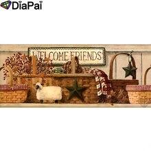 DIAPAI Diamond Painting 5D DIY 100% Full Square/Round Drill Flower basket sheepDiamond Embroidery Cross Stitch 3D Decor A18553 diapai 100% full square round drill 5d diy diamond painting flower landscape diamond embroidery cross stitch 3d decor a21095
