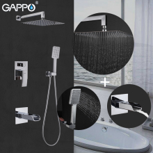 GAPPO    bathroom shower faucet set shower head rainfall shower mixer taps chrome waterfall bathtub faucet tap copper bathtub faucet shower chrome wall mounted waterfall shower faucet set bathroom handheld shower head faucet mixer tap