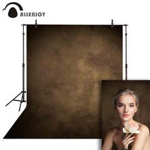 Allenjoy Grungy Phông Nền Chụp Ảnh Chân Dung Nâu Đậm Màu Cưới Photocall Vải Nền Cho Studio Ảnh
