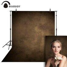 Allenjoy grungy toile de fond portrait photographique brun foncé couleur unie mariage photocall toile tissu fond pour studio photo