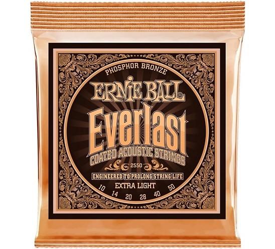 Ernie Ball 2550 Ever-last Phosphor Extra Light Acoustic Guitar Strings 010-050