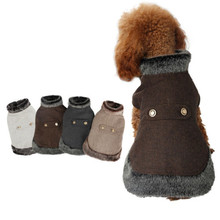 Hoodie Coat Jacket Winter Luxury Pet Warm Fur Jumpers Windbreak Pup Pet-Dog Suede Kitten