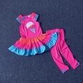 2 3 4 5 6 7 años niñas ropa set 2 unids vestido + pantalones niños ropa de bebé muchachas de la marca de ropa de moda de verano