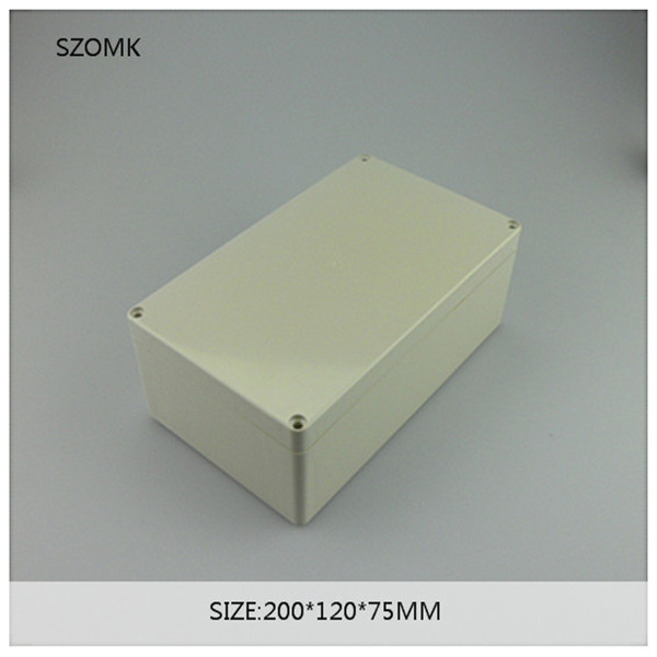 1 piece, waterproof enclosure switch box 200*120*75mm plastic junction box waterproof project case electronics box 200 120 75mm size surface mounted waterproof sealed plastic electrical enclosure switch junction box