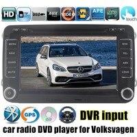 2 din 7 дюймов Автомобиля Dvd плеер 3 Г GPS WI FI Стерео Видео Мультимедиа Для VW/Volkswagen/Passat/POLO/GOLF/Skoda/Seat/Leon RDS радио