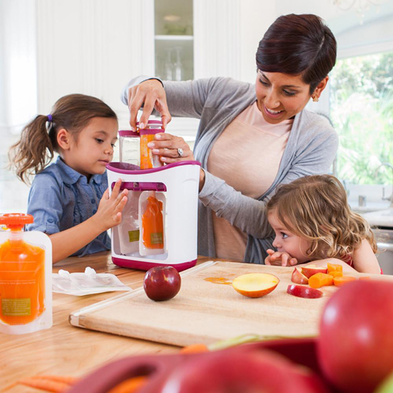 Feeding Baby Feeding Food Squeeze Station Pouches Fruit Maker Dispenser Storage Kit Diy Baby