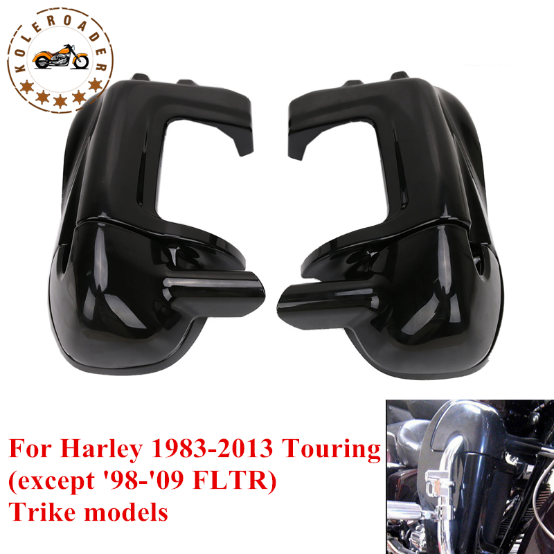 For Harley Fairing Gloss Black Lower Vent Leg Fairing HD Touring Road Glide Street Glide 1983-2013 Motorcycle Parts MBJ072 fairing vent cover abs chrome batwing fairing vent trim with led accent lights cover for harley street glide efi flhx 14 16