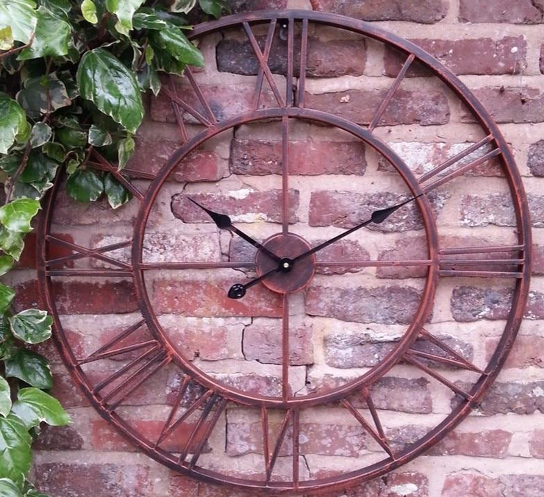 Vintage 80cm 50cm große Wanduhr Schmiedeeisen Uhr Uhr Saat Classic - Wohnkultur - Foto 4