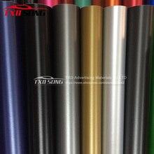Hoge kwaliteit licht zwart geborsteld vinyl auto sticker Auto styling Black Dark Grey Zilver Metallic Geborsteld Aluminium Vinyl car Wrap