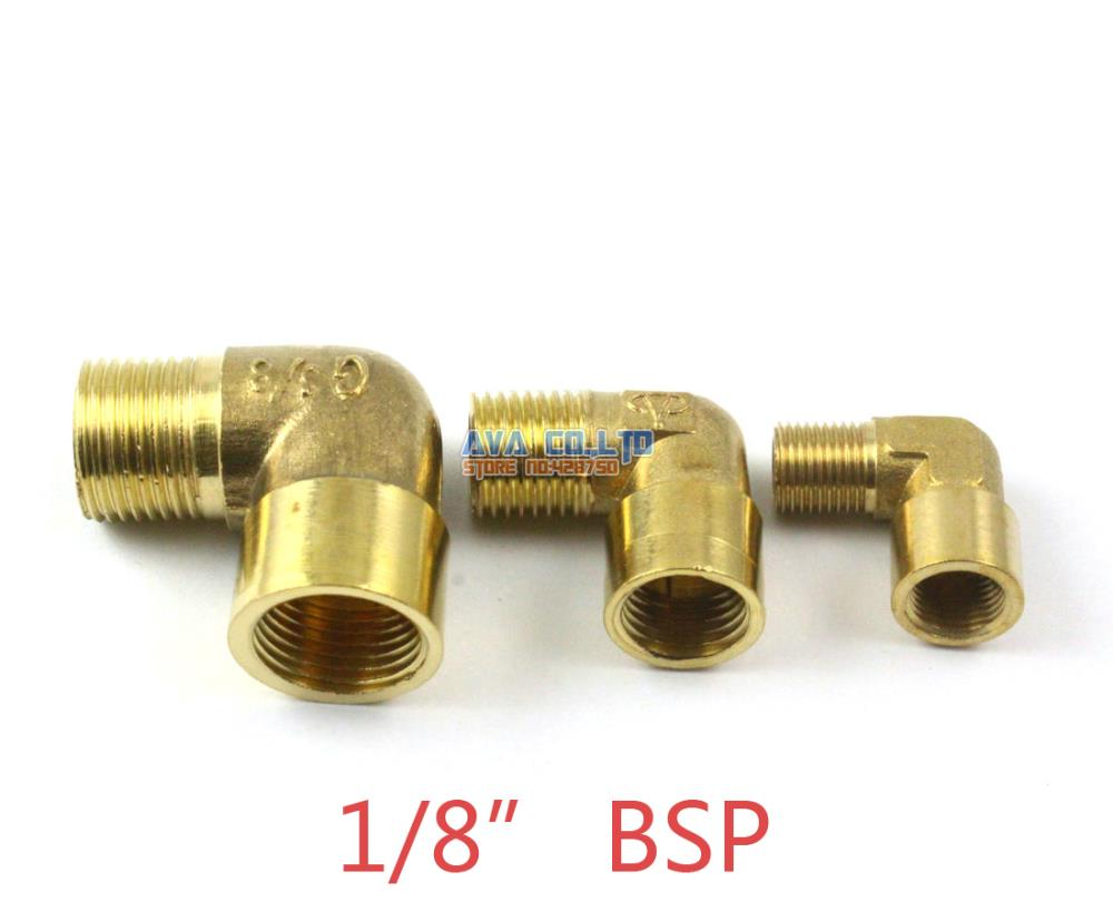 """10 Piece 6mm-1//8/"""" BSP Brass Elbow Pneumatic Pipe Hose Coupler Connector Fitting"""