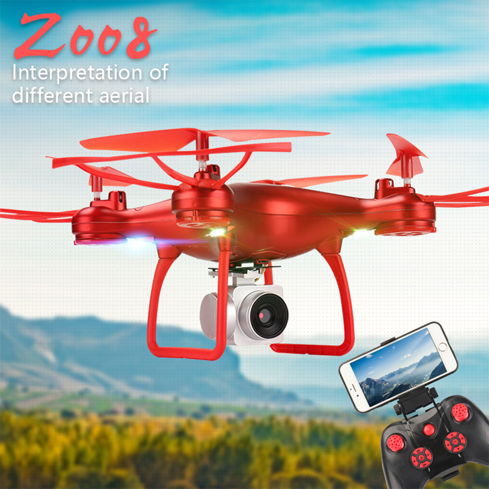 Drone S8 HD 1080P / 2MP Air Pressure Maintain Height One-Touch Takeoff Landing Quadcopter Practice Drone Camera RC Helicopter