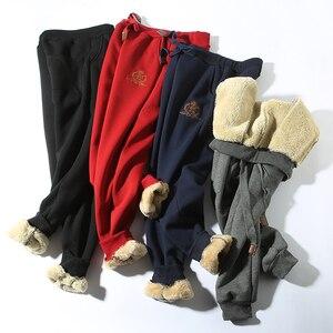 Image 5 - Jvzkass 2020 zimowe spodnie bawełniane lambskin spodnie wełniane spodnie na co dzień plus aksamitne pogrubienie spodnie spodnie w dużym rozmiarze kobiety Z211