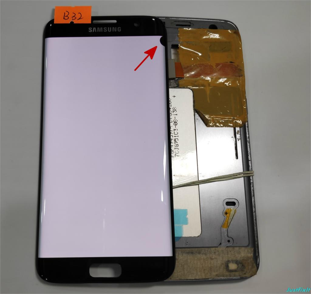 NO B32 for Samsung Galaxy S7 edge G935F G935A G935FD Defect lcd display with touch screen