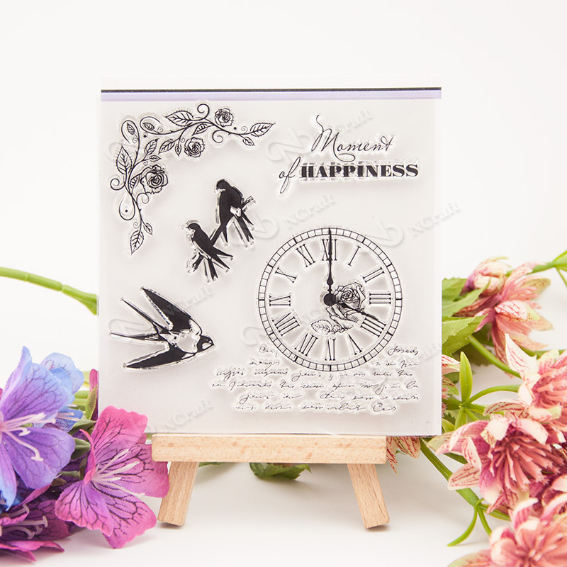 happiness Clear Stamp Scrapbook DIY photo album card hand account chapters rubber product transparent for Christmas gift t-0100 ngk chapters kangaroo rlb