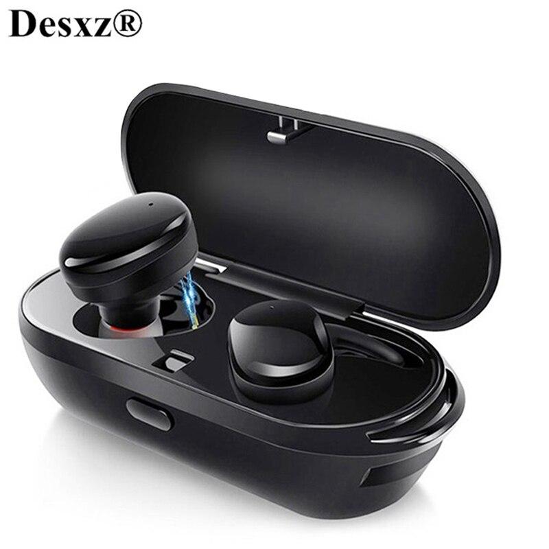 Wahre Drahtlose Bluetooth 5,0 Kopfhörer Magnetische Kopfhörer TWS BT 4,2 Ohrhörer Musik Cordless Kopfhörer Mit Mic Headset für Telefon
