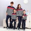 Otoño Sudadera A Rayas Papá Boy Ropa Juego de La Hija de la Familia Familia Conjunto Mujer Hombre Niña Niño Otoño Camiseta MQ06