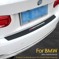 2018 New Performance Rubber Car Rear Bumper Trim Guard Plate Protector Sticker For bmw e39 e46 e90 f30 f10 f20 z4 x1 g30 f33 e60