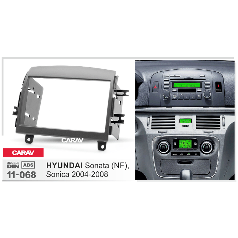 Radio Fascia For Hyundai Sonata  Nf  Sonica 2004 2008 Double Din Radio Dvd Stereo Cd Panel Dash