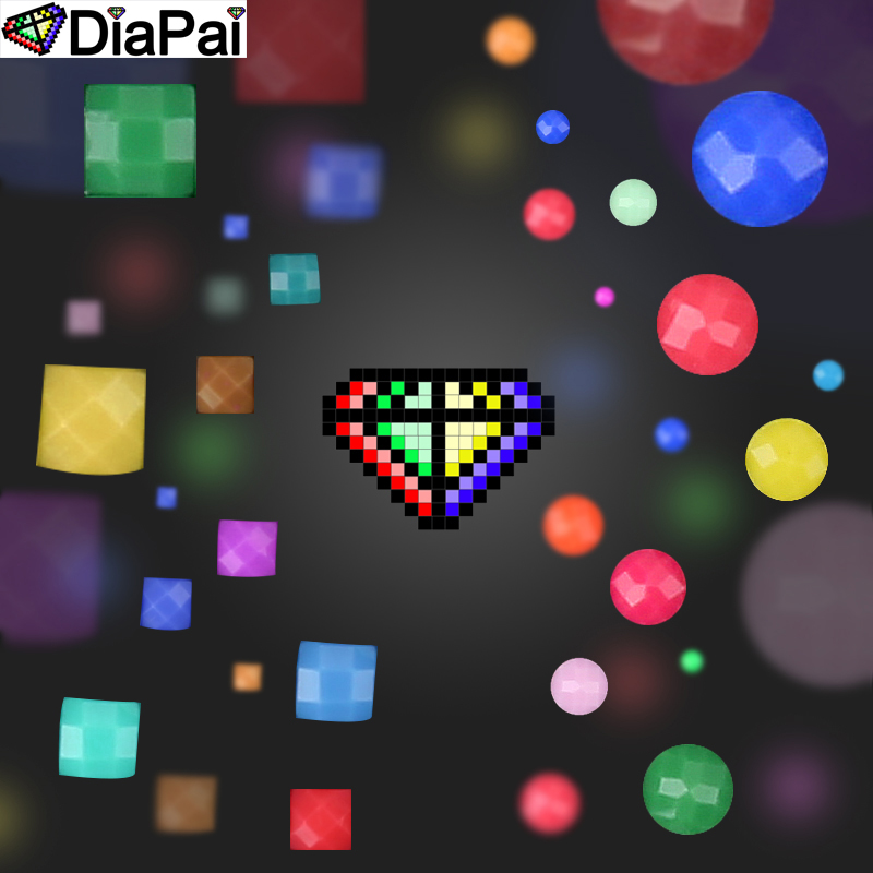 DIAPAI Diamond Painting 5D DIY Full Square Round Drill quot Cartoon bear flower heart quot 3D Embroidery Cross Stitch 5D Decor Gift in Diamond Painting Cross Stitch from Home amp Garden