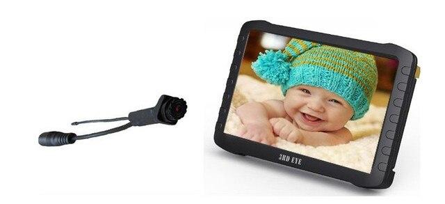 Рзэ доставка пинхол объектив 5.8 ГГц беспроводная камера и портативный DVR приемник TE860HB (50deg, 5 дюйма, 9.5 часов записи)