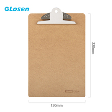 Glosen A5 Clipboard Writing Board Clip Board Office and School Supplies Office Accessories coloffice 1pc candy color a5 pu straight plywood fashion signed clipboard fold over kawaii wordpad vertical writting board