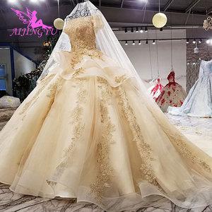 Image 5 - AIJINGYU Elegante Abiti Abito Da Sposa Con Sheer Indietro Royal Sexy On Line Usa Puro 2021 2020 Abito Da Sposa Con Spacco