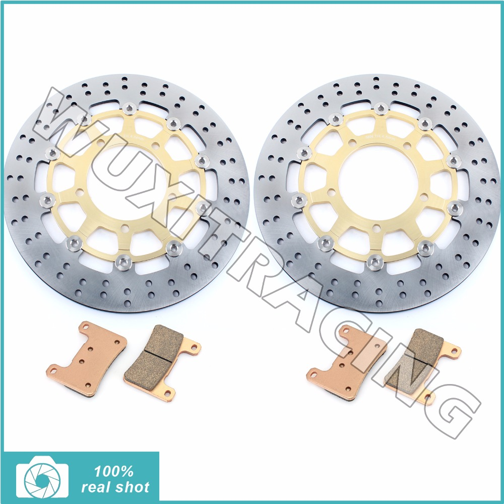 Front Brake Discs Rotors Pads for SUZUKI GSXR 600 750 1000 GSXR600 GSXR750 GSXR1000 05 06 07 08 VZR 1800 Boulevard M109 R 06-14 free shipping viborg usb001 odin interconnect usb cable with a to b plated gold connection usb audio digital cable
