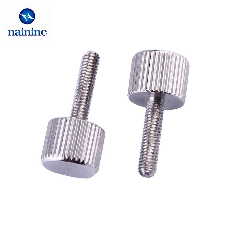 10Pcs M3 A2 304 Thumb Screws Plain Type Metric Knurled Head Screws HW155 10pcs m3 a2 304 thumb screws plain type metric knurled head screws hw155