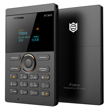 iFcane E1 Quad Band Unlocked Mini Card Phone Bluetooth 2.0 MP3 FM Alarm Clock Standby Phone Lightest Thin MPS FM Radio Mobile