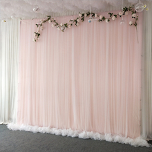 hot deal buy 3x3m simple white yarn silk cloth wedding backdrop event party drape curtain for wedding party home decoration stage background