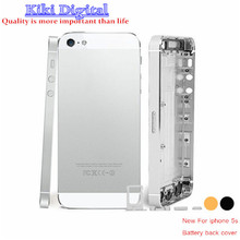 New A For iPhone 5s Full Housing Back Battery Cover Middle Frame Metal Back Housing Replacement